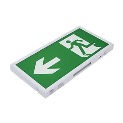 5W LED Slim Green Maintained / Non Maintained Emergency Exit Sign - Left Arrow