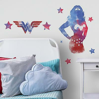 WONDER WOMAN Watercolor WALL STICKERS MURAL Giant DC Comics Stickers NEW Decor