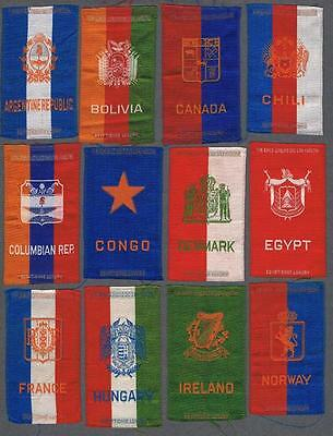 1910-14 Coat of Arms By Egyptienne Luxury Tobacco Silks Lot of 18