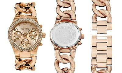 So & Co New York Women's Fashion Chain Link Bracelet Watch