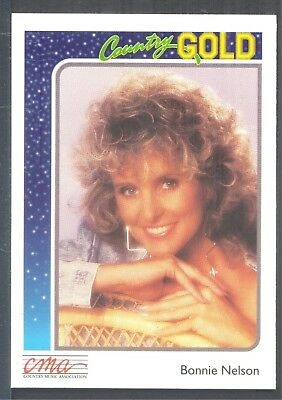 Bonnie Nelson, Country Music Star on a 1992 Country Gold Music Card #31