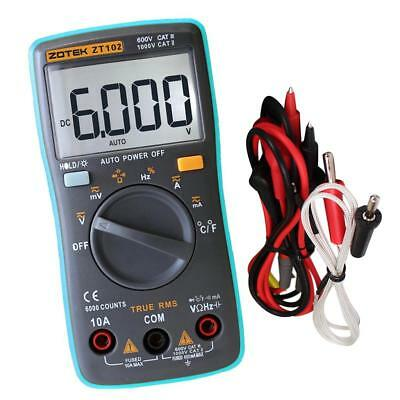 Digital Multimeter TRMS 6000 Counts Auto Ranging Volt Meter Portable 130mm