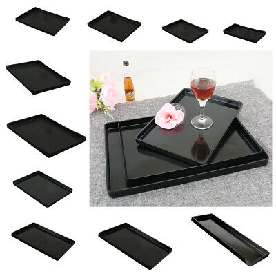 European Style Tray Plate Serving Food Fruit Snack Dishes Salad Bowl Black