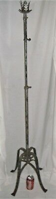 Antique Architectural Usa Garden Home Wrought Iron Candle Candlelabra Pole Stand