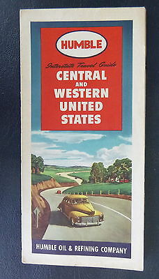 1947 Central and Western United States  road map Humble  oil gas oil route 66