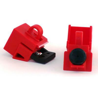 Ideal 44-809 Universal 277-Volt Single-Pole Breaker Lockout, Red (3 per Card)
