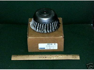 "Lot (2) Osborn 6"" Diameter Wire Cup Brush Knotted Double Row New in Box"