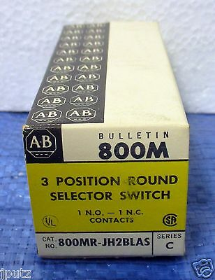 LOT (6) Allen Bradley 3 Position Round Selector Switch 800MR-JH2BLAS NOS!!!