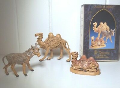 "Set of 3: 2 CAMELS & 1 DONKEY - 2.5"" Fontanini Nativity IN BOX –Retired (50175)"