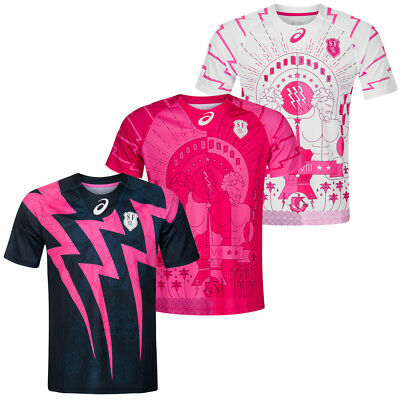 Stade Francais ASICS Herren Rugby Trikot Jersey Maillot SF Rugby Union Paris neu