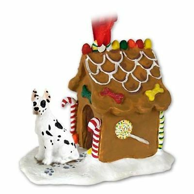 GREAT DANE Harlequin Dog Ginger Bread Gingerbread House Christmas ORNAMENT