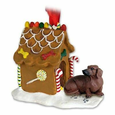 DACHSHUND Red Dog Ginger Bread Gingerbread House Christmas ORNAMENT