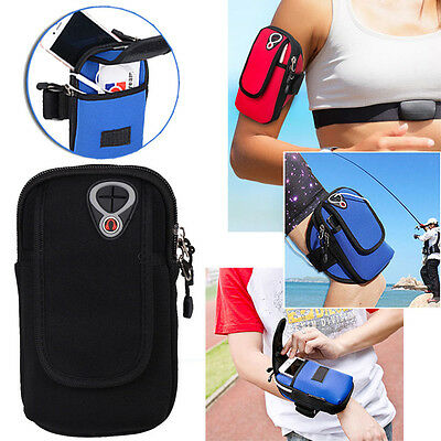 Universal Sport Running Riding Arm Band Case For Cell Phone Holder Zipper Bag HX