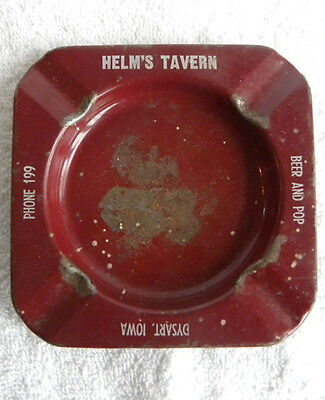Vintage Helm's Beer-Pop Tavern, Phone 199, Helms, Dysart, Iowa IA ASHTRAY
