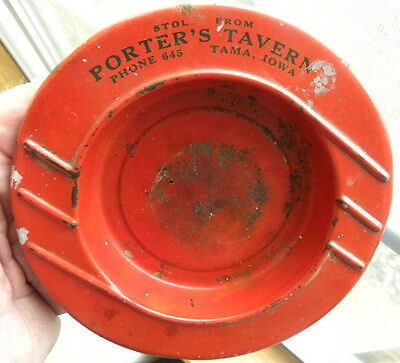 Vintage Stolen from Porter's Beer Tavern, Phone 645, TAMA, Iowa IA ASHTRAY