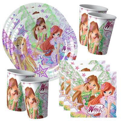 Winx Club - Butterflix - Set Party Teller Becher Servietten Partygeschirr