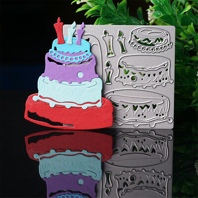 DIY Cake Dies Metal Cutting Stencil For Scrapbooking Paper Cards Gift Decor New