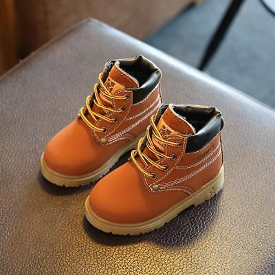 Baby Kids Children Boys Girls Winter Warm Ankle Snow Boots Casual Shoes HOT LG