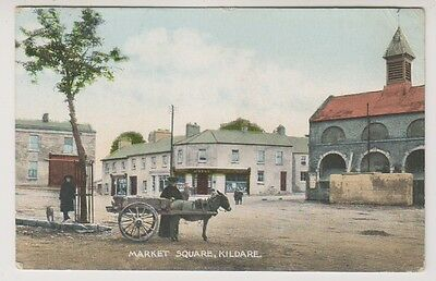 Ireland postcard - Market Square, Kildare (Colour) - P/U