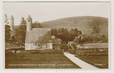 Ireland postcard - Round Tower & St Kevins Kitchen, Glendalough, Co. Wicklow