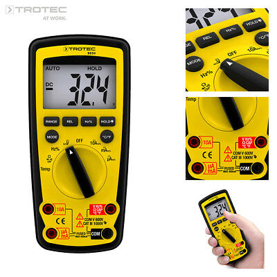TROTEC BE50 Digital Multimeter, Voltmeter, Amperemeter