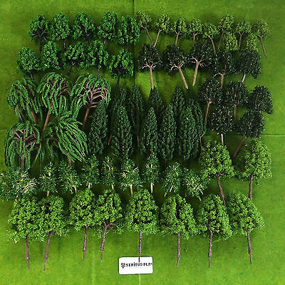 Serious-Play Forest Tree Set -Wood Model Scale railway scenery warhammer wargame