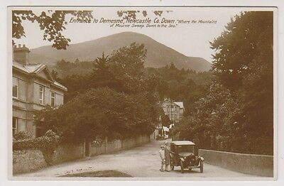 Northern Ireland postcard - Entrance to Demesne, Newcastle, Co. Down - RP