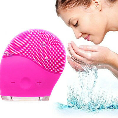 Rechargeable Ultrasonic Silicone Face Brush Cleaning Waterproof Massager Brush