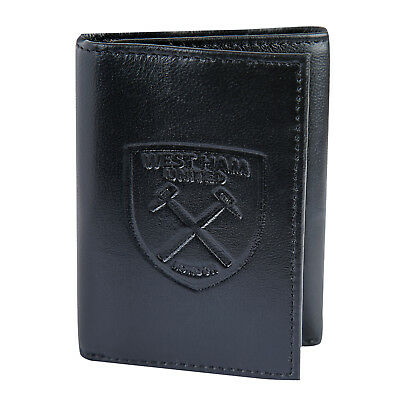 West Ham United FC Official Gift Embossed Crest Leather Money Travel Wallet