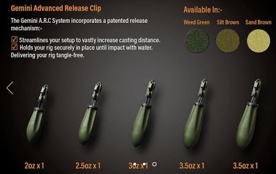 Gemini A.R.C. Advanced Release Clip ARC Carp Fishing Weights
