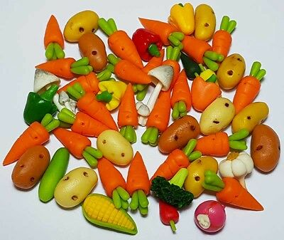 50 Dollhouse Miniature Mixed Vegetables Set * Doll Mini Tiny Food Wholesale Lot
