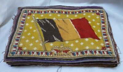 B6 Tobacco Flannel Flags Type 3 Crown Style Lot of 23 Including Color Variations