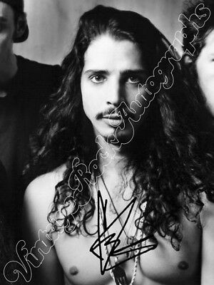 CHRIS CORNELL - SOUNDGARDEN -  print signed photo - foto con autografo stampato