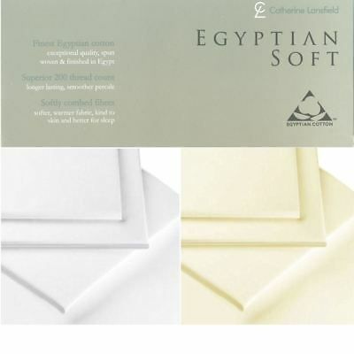Luxury 100% Egyptian Cotton Combed Fitted Sheets Catherine Lansfield Bedding
