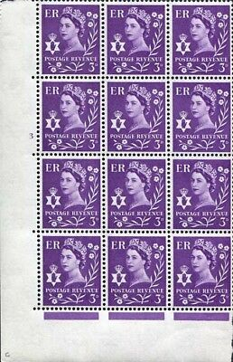 XN1 3d Deep Lilac Crowns Wmk Cylinder 3 No Dot U/M Block 12