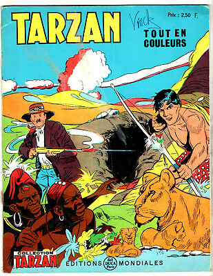 COLLECTION TARZAN n°58 # 1972 # EDITIONS MONDIALES DEL DUCA