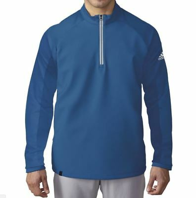 NEW Adidas ClimaCool Competition 1/4 Zip Pullover EQT Blue Men's Large AE8796