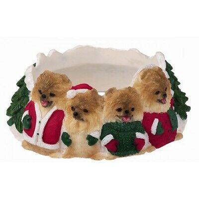 Pomeranian Holiday Candle Topper Ring