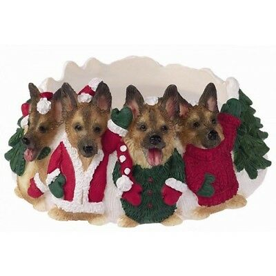 German Shepherd Holiday Candle Topper Ring