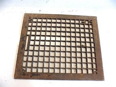 Antique Cast Iron Heat Grate Vent Register Vintage 14  x  17