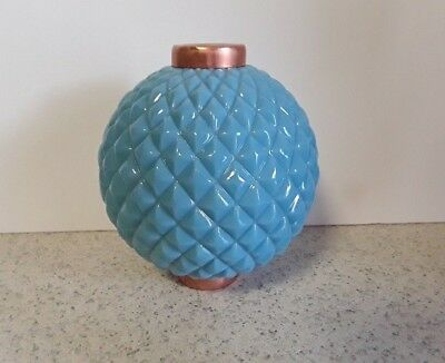 Light Blue Milk Glass Lightning Rod Ball  Quilt Pattern Cabin Home Roof Decor