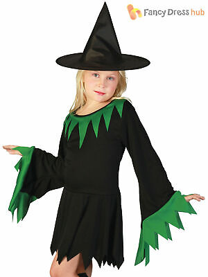 Girls Witch Costume Childs Kids Halloween Wicked Witches Fancy Dress Outfit  sc 1 st  PicClick UK & GIRLS WITCH COSTUME Childs Kids Halloween Wicked Witches Fancy Dress ...