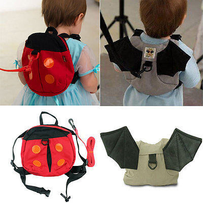 Kids Safety Harness Reins Toddler Back pack Walker Buddy Strap Walker Baby  Bag 7e792f9b46519