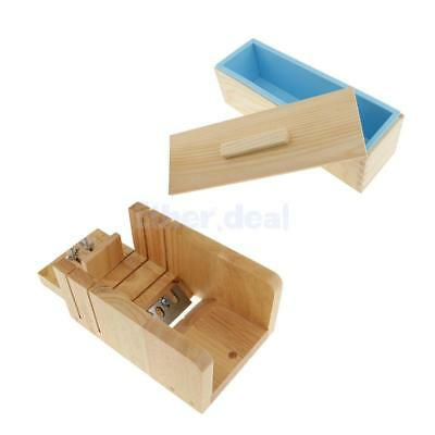 Silikon Rechteck Seife Form Box Holz Cutter Toast Loaf Backen Kuchen Formen