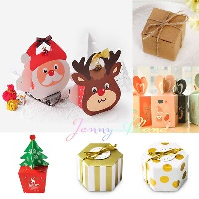 Lots Kraft Paper Packing Box for Xmas Party Gift Wedding Favors Candy Jewelry