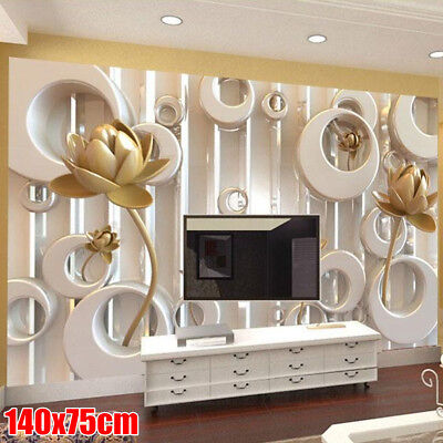"""55""""x30"""" 3D Embossed Romantic Sticker Roll Wall Paper TV Background Living Room"""