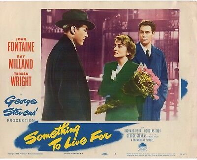 Ray Milland Joan Fontaine Something To Live For 1952 Orig 11X14 Lobby Card #1450