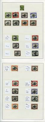 Collection of Early Papua inc 3 x 2/6 Better Great lot