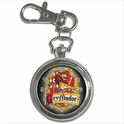 NEW HARRY POTTER GRYFFINDOR HOGWARTS SCHOOL Silver Color Key Chain Ring Watch