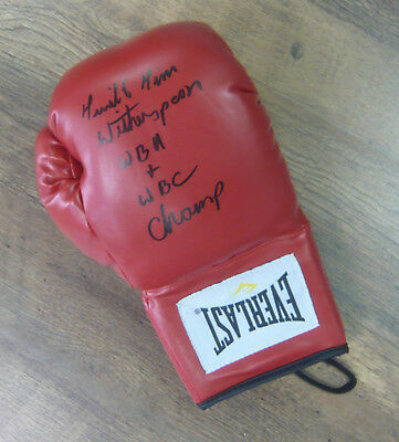 Tim Witherspoon SIGNED AUTOGRAPH Boxing Glove Private Signing AFTAL UACC